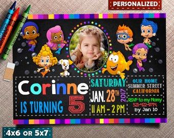 Bubble Guppies Invitation, Bubble Guppies Birthday, Bubble Guppies Invite, Bubble Guppies Party, Bubble Guppies Printable, Any age Invite