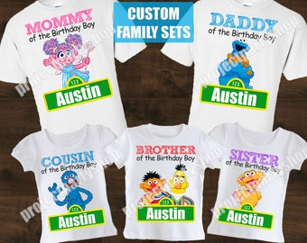 Sesame Street Family Shirts, Sesame Street Birthday Shirt