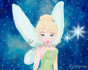Disney's Tinkerbell Painting-INSTANT DIGITAL DOWNLOAD