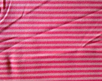 Pink striped cotton jersey fabric, pink/fuschia striped jersey knit fabric, pink striped 4 way stretch fabric, pink striped jersey