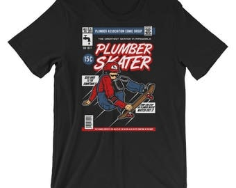 The Comic Book Series: Plumber Skater Short-Sleeve Unisex T-Shirt