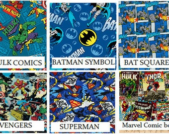 Superhero Blankets and Matching Pillow case - This is NOT a weighted therapy blanket