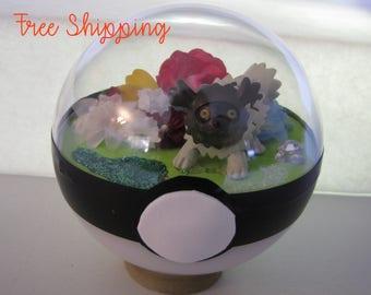 Zigzagoon Pokeball Terrarium **FREE SHIPPING**