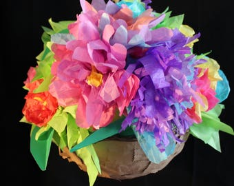 A Tisket a Tasket Floral Piñata!