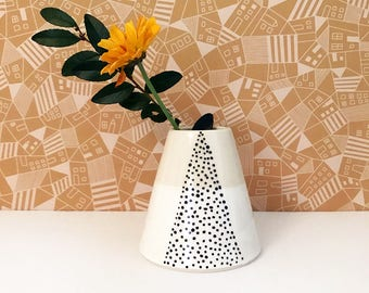 SALE: Dotted Triangle Bud Vase