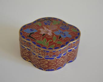 Vintage Collectible Cloissone Box. China.