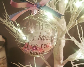 Miscarriage, baby loss Christmas bauble, memory