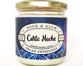 Vela de soja Corte Noche para amantes de los libros