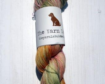 "4 ply ""Bellisima "" hand dyed sock yarn."