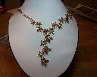 Filigree necklace with Swarovski crystals by Loredana Di Cecco