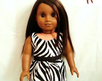 Dress for 18 inch doll, such as American Girl Dolls & My Life As Dolls