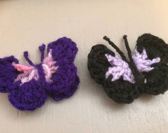 Crochet Butterfly brooches
