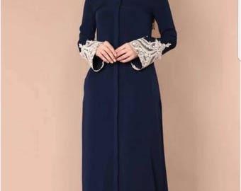 button down abaya