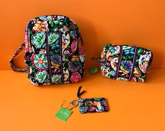 Vera Bradley Back to School Mickey Combo with Small Backpack+Large Cosmetic+ID case