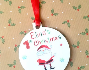 Personalised Baby's First Christmas Tree Decoration My First Christmas Decoration Christmas Gift New Baby Gift Christmas Tree Ornament