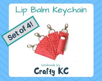 R + F Lip Shield Keychain Clip, Red Essentials - Set of 4 – ChapStick Holder Keychain by CraftyKC