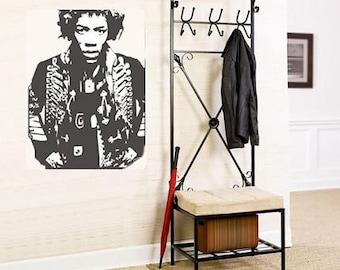 Jimi Hendrix music band rock sticker vinyl decal wall art