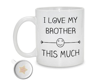 I Love My Brother This Much | Mug Gift For Brother Birthday | Big Brother Christmas | Sibling Gift