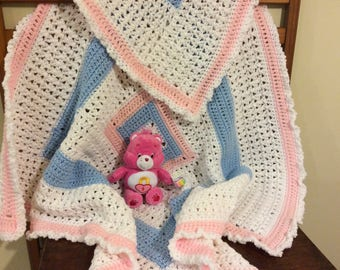 Baby blanket and Care Bear