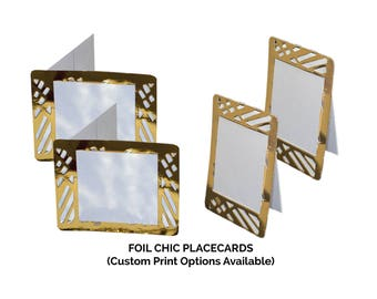 Gold Place Cards,(PACK OF 20), Foil Chic Design,Wedding Place cards