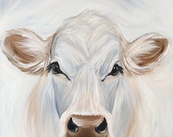 12x12 Daisy Cow Painting