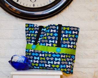 Large bow tie tote