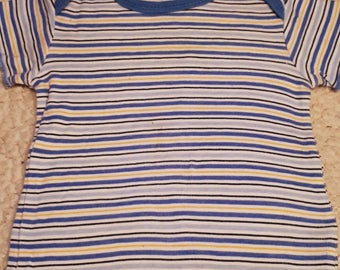 Blue Stripped Puppy Shirt (Size 2P)