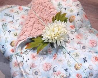 Minky Baby Blanket - Boho baby Minky blanket - Baby Girl Blanket - Skull Blanket - Baby Shower Gift - Woodland Blanket - Baby Blanket Minky