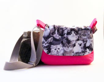 MADE TO ORDER- Choose your Fabric - small messenger bag- Ladies purse- Child's purse- Gift for her-Purse, Fabric Handbag, Shoulder bag, Teen