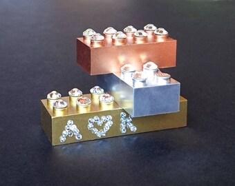 LEGO Gold, Silver & Copper - personalized with Swarovski crystal trim