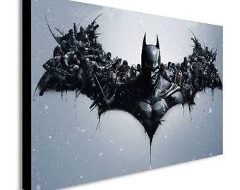 Personajes de Batman lona impresión del arte de pared - varios tamaños