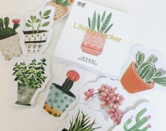 Cactus Stickers - Succulent Stickers - Cactus Planner Stickers - Cactus Stationery