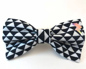 Lightening Geo Triangle Bow For Hair or Collar