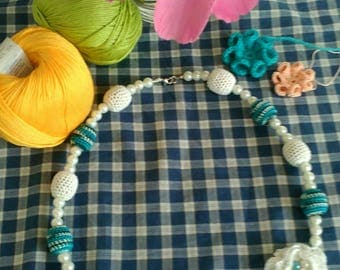 Handmade crochet necklaces