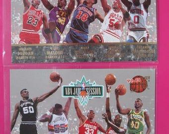 1992-93 Fleer Ultra JAM SESSION 2x LOT: Jordan Kemp Robinson Malone Barkley