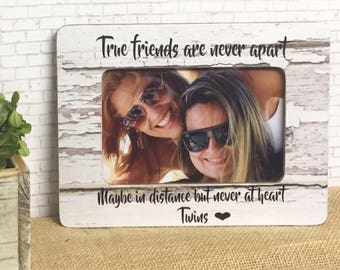 Friends Frame- Personalized Gift For Best Friend- Personalized Frame For Friend- Long Distance Friend Gift- Best Friend Frame