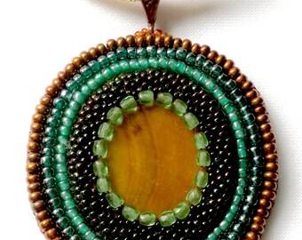 Anticent Bronze, Fresh Mint Handmade Pendant - Memet Jewelry