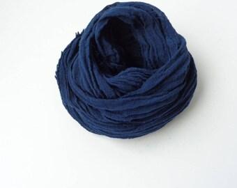 Navy Blue scarf, navy blue  long scarf, handmade scarf, navy blue cotton scarf, men women scarf