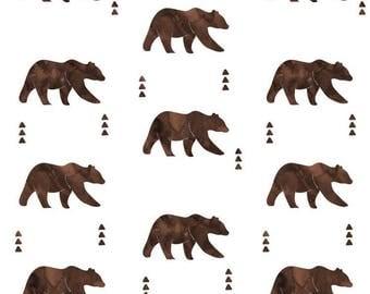 Brown Bear Baby Blanket