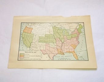 Election Map Etsy - Us map paper plates