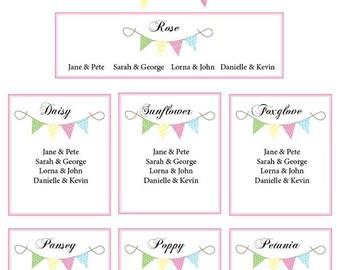 Wedding Table Plans -