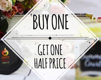 Buy One - Get One Half Price!