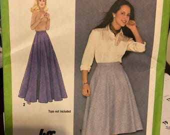 Vintage Simplicity pattern 9172 - misses' jiffy skirt in two lengths - size 12 - uncut