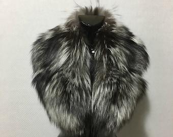 Natural Arzante  Fox Fur Collar