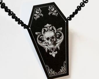 Ornate Coffin Necklace