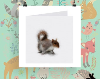 """Watercolour Cards - """"The Wild Wood"""" Squirrel"""