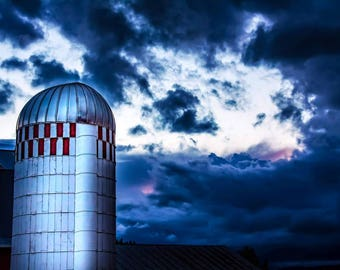 Silo in the storm....