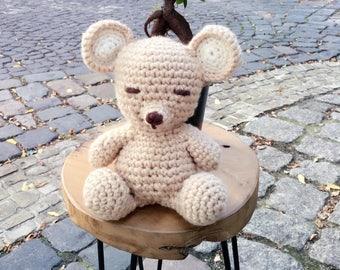 Teddy Bear MADE TO ORDER, Handgemachter Teddybär, Gehäkelt Teddybär, Crochet Bear, Mala Bear, Amigurumi Bear, handmade Teddy Bear