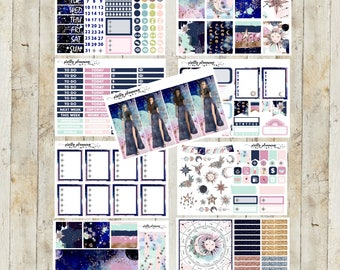 Starlight Deluxe Planner Sticker Kit (Pretty Planning Stickers for Erin Condren Life Planner, Happy Planner, and Travelers Notebooks)