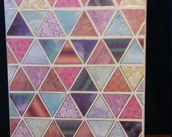 Bono Geometric Collage Canvas Decor